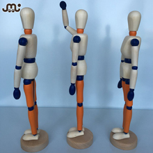 Custom stained wooden mannequin figure