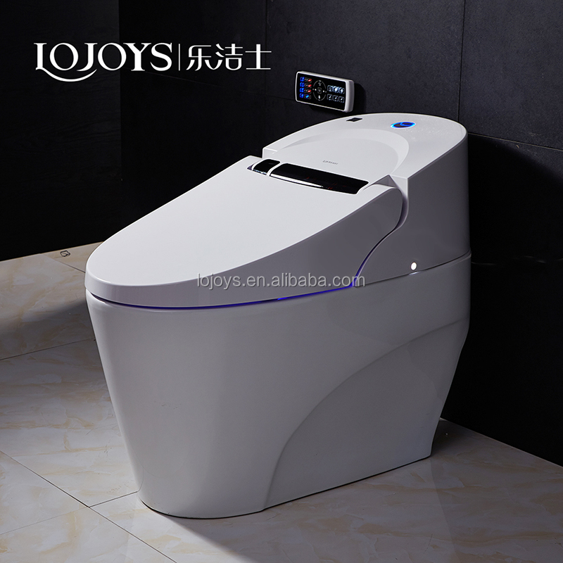 Zhejiang hight quality ceramic automatic flush smart toilet with damping slow falling cover seat wc toilet