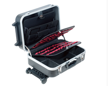 Easy Carry Locking Aluminum Hard Trolley Tool Case With Wheels and Handle