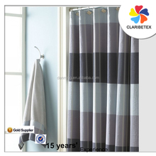 100% polyester waterproof shower curtain rod