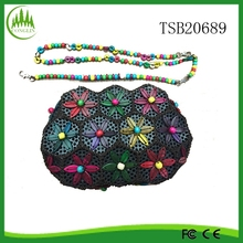2015 New Wholesale Travel Fashion Vintage Women Handmade Bags Coconut Shell Clutch Wallet Bach Bag