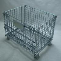 Professional three dimensional collapsible steel folding crate