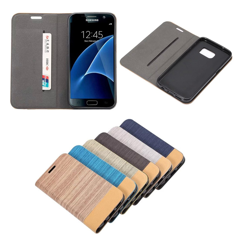 For Samsung Galaxy S7 Fashion Magnet Wallet Leather Case, 6 Colors Available