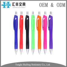 HF5248C custom solid color printing plastic office ballpoint pen with logo