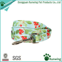 Custom Pet Cherry Garden Printed Designer Durable Dog Leash Lead