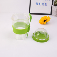 Shenzhen manufactured salad cup lid and spoon with 3 colors option