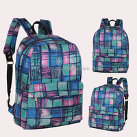 Stylish school backpack fashion canvas college bags from China factroy
