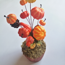 Fall Harvest Small Artificial Mini Pumpkins for Halloween Decorating