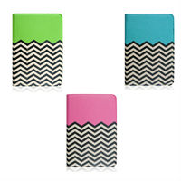 Hot Selling Fashion Wave Pattern Leather Case For Apple iPad mini