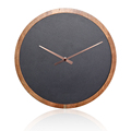 Round Slate& Solid Wood Clock