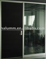 Double wood door with laminate on the surface