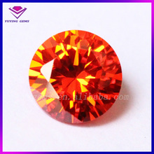 6MM Cubic Zirconia Whilesale Price CZ Stones Round Brilliant Cut Orange Red Gemstone