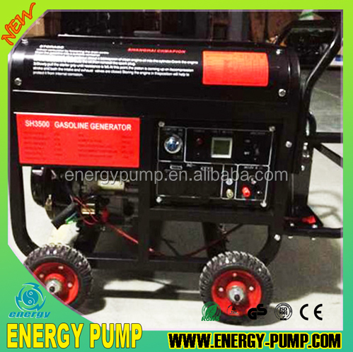 Strong square frame, 3Phase 2.5KW Electric Petrol Generator with GS approval