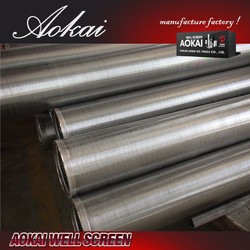 Resistance against acid Stainless steel Wedge Wire Screens for liquid