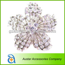 Suitable for use when they get married rhinestone Crystal Brooch with pins for Wedding bouquet