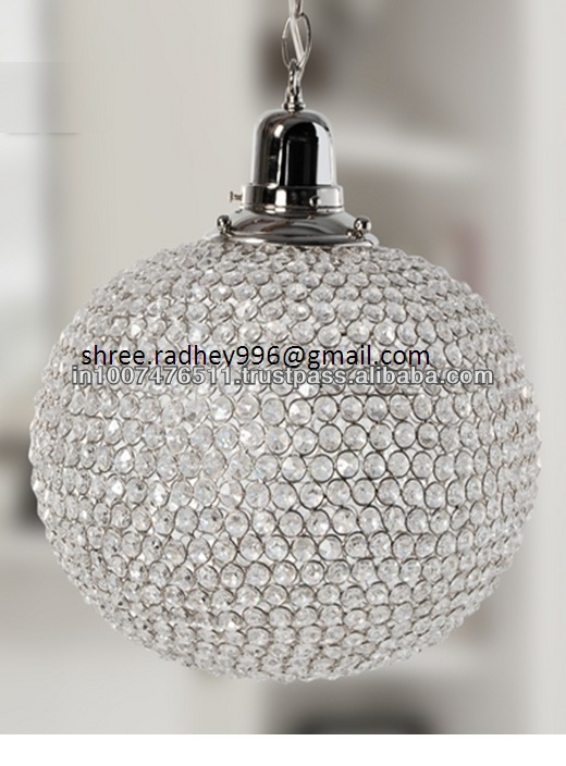 Hand Made Globe Crystal Pendant Lamp