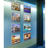 A3 A4 Cable Hanging Real Estate Magnetic LED Window Display
