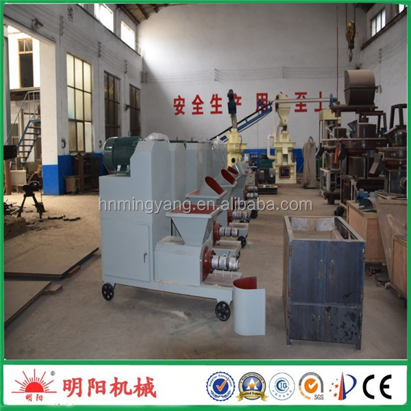 Eco-friendly screw type 350kg/h wood sawdust briquette equipment used fo fuel