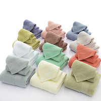 China OEM 100% cotton soft strong water absorption three-piece bath towel set