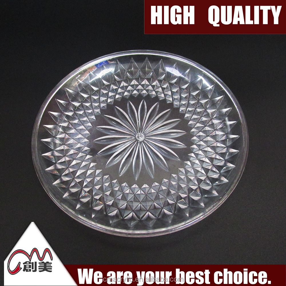 Chinese factory direct selling beautiful clear acrylic fruit tray for home