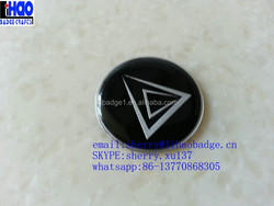 3D resin black and silver aluminium clear epoxy resin dome sticker