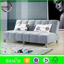2015 latest design hotsale leather sofa bed / sleeper sofa bed european / folding bench bed