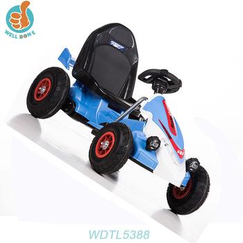 WDTL5388 4 Colors Painting License Ride On Car With Double Battery Tractor Car Items