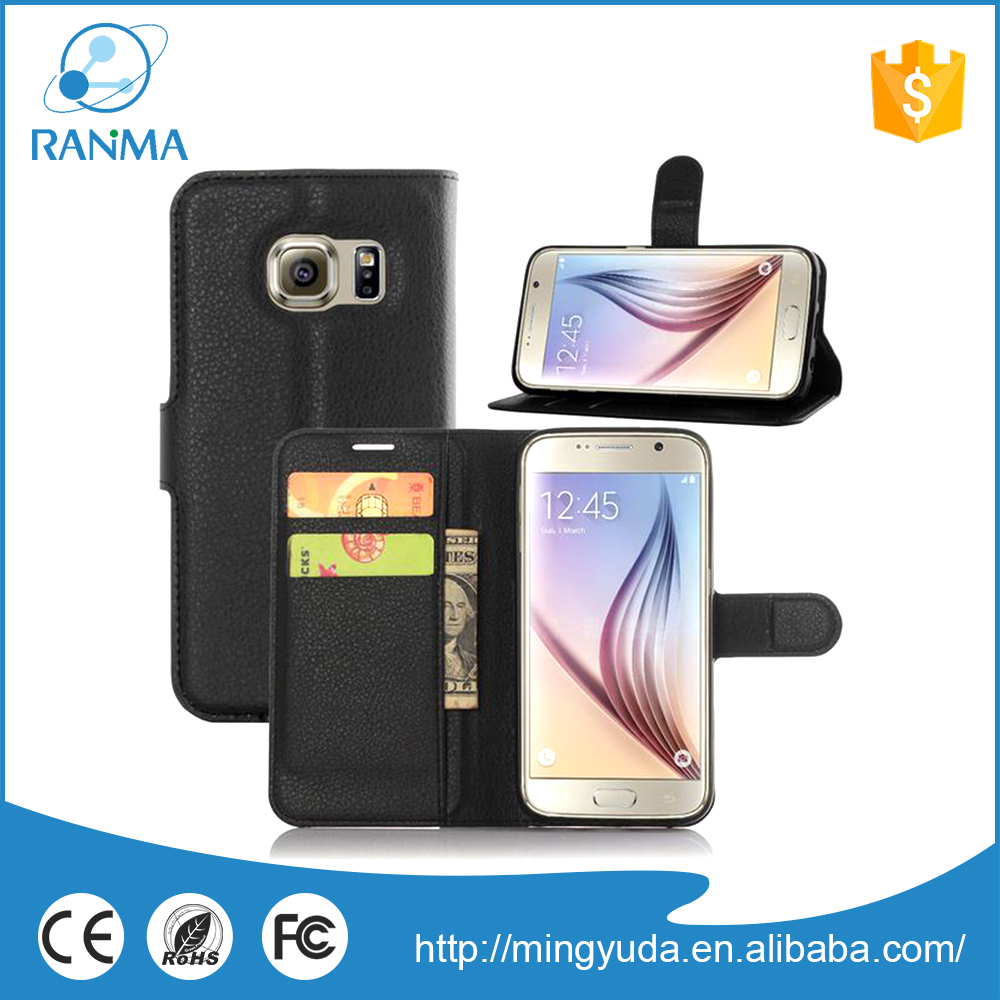 Ultra Thin mobile phone flip leather phone case for Samsung
