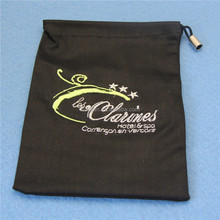 Custom Made Embroidered Logo Washable Drawstring Velvet Hair Dryer Bag (XJLB35)
