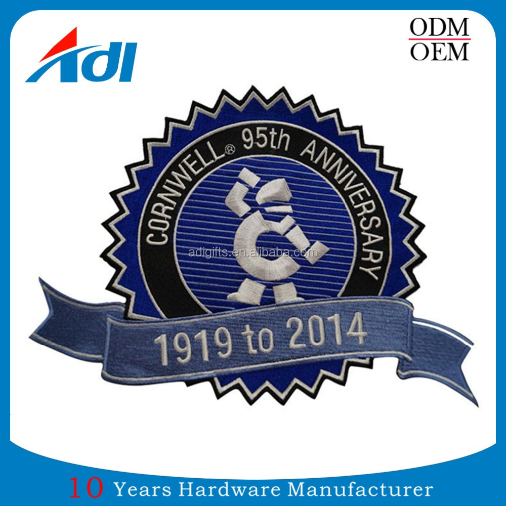 Custom Design Dye Sublimation Embroidered Patches With Iron On