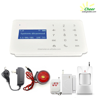 Touch screen Digital GSM wireless home burglar security alarm system
