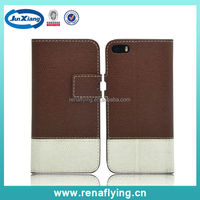 Alibaba express leather flip open case for iphone 5/5s