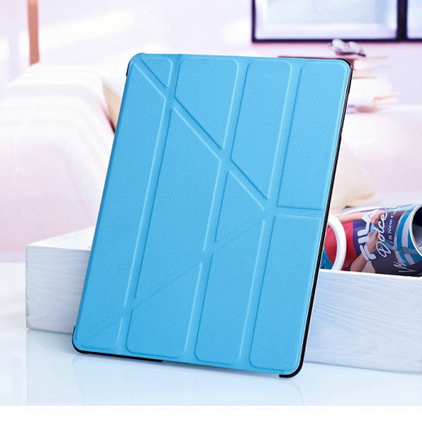 Hot New Promotional 4 Shapes Stand Design Magnetic PU Leather Crash-Proof Protective Case Cover for Ipad 2 3 4