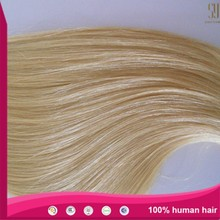 Hot sale price 7A double drawn blonde 613 colour 100% European remy human hair extension hair weft