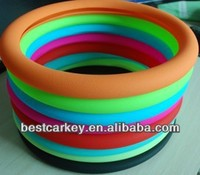 Topbest Hot sale candy color silicone car steering wheel cover suit for all cars