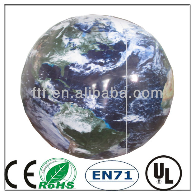 Promotion hanging pvc inflatable globe beach ball