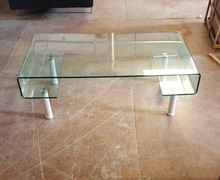 Brand new Clear Rectangle Large Bent Curved Coffee Table,tv Lcd Led Trolley
