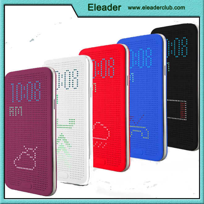 Dot view case smart cover filp Leather case for Samsung galaxy S5