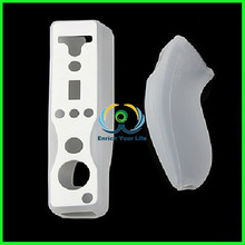 Soft Silicone Cover Case Skin Pouch for Nintendo Wii Remote Nunchuk Controller