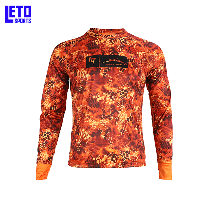ANTI - UV fishing shirts Moisture  Breathable Camo Fishing Shirt