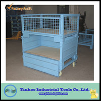 Heavy Duty Stackable and Foldable Steel Mesh Container Box Pallet
