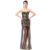 Kate Kasin Strapless & Sweetheart Backless Black Sequined Prom Dresses KK000191-1