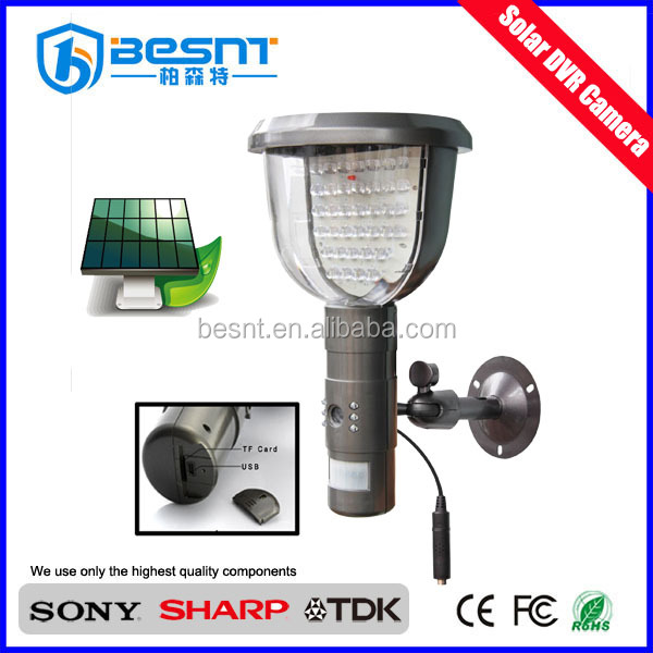 Made in China low priceled solar outdoor light magic garden led lights with hidden camera (BS-WS08A)