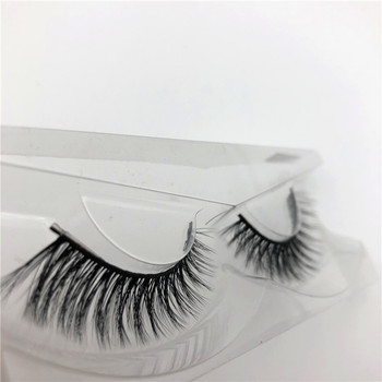 3D Luxury 100% real mink fur false lashes with private label packaging