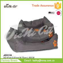 wholesale on alibaba paw shape printing pet bed for dog