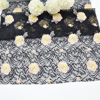 2019 Net embroidery lace fabric for women dresses dubai