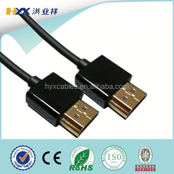 Certified thin colorful ultra slim flat hdmi cable