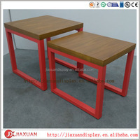 set of 2 wood stool wood bench cloth clothing table shelf dressing display table shoe display