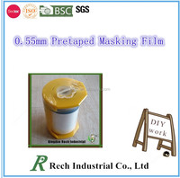 HDPE painting protective covering film masking tape