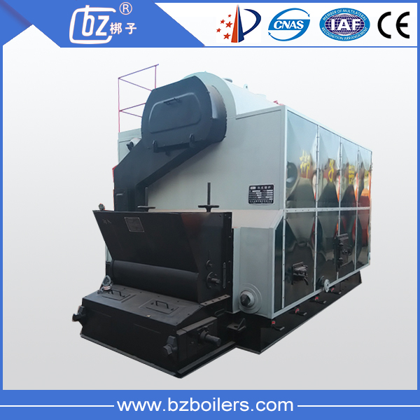 Travelling grate coal and biomass water boiler for chicken farm heating